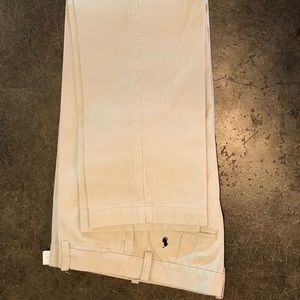 Ralph Lauren boys light khaki flat front pant 16